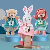 手指玩偶 手指玩偶嬰兒手偶玩具動物手套可咬兔子布偶互動安撫寶寶睡覺神器 至簡元素