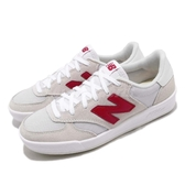 New Balance 休閒鞋 300 NB 灰 紅 麂皮鞋面 N字鞋 低筒 韓妞必備 女鞋【PUMP306】 WRT300WRD