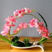 蝴蝶蘭假花盆栽擺設歐式仿真花 伊人閣