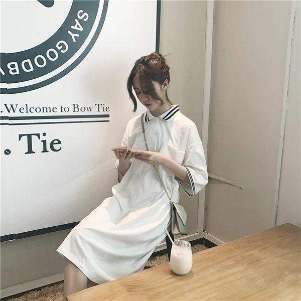 [百姓公館] 短袖洋裝 洋裝 連身裙 長裙