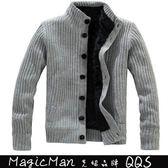 【現貨】外套加絨加厚夾克鋪棉上衣(灰色/XL)FAM0029★ MagicMan ★