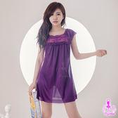 睡衣~紫丁香芬!柔緞面 緞面睡衣 小蓋袖睡衣 【SV6229】HappyLife