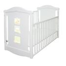 Baby City 動物熊搖擺中大床(白色)+床墊+7件寢具組[衛立兒生活館]