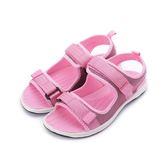 【AIRWALK】雙魔鬼氈織帶涼鞋-女款-粉紅