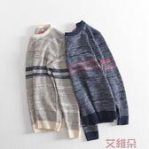 針織衫秋冬款男士圓領毛衣 男套頭針織衫簡約休閒款粗線衣     艾維朵