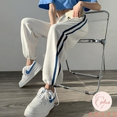 寬褲女運動褲夏季寬松薄款高腰垂感闊腿直筒顯瘦百搭衛褲【大碼百分百】