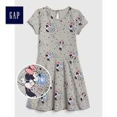 Gap x Disney迪士尼系列 女嬰幼童米妮寬擺洋裝 488989-米妮老鼠圖案