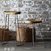 吧台椅 吧台椅 酒吧椅高凳子 家用現代簡約椅子歐式實木吧椅高凳時尚創意 igo夢藝家