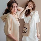 現貨-MIUSTAR 連帽抽繩開衩彈力棉質洋裝(共5色)【NJ1483】