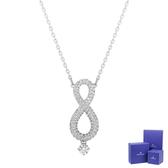 SWAROVSKI 施華洛世奇 Infinity璀璨水晶無限造型銀色可調式項鍊 5537966
