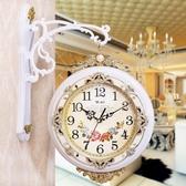 【免運快出】 雙面掛鐘客廳時鐘靜音歐式創意雙面鐘錶兩面壁鐘石英鐘掛錶 奇思妙想屋