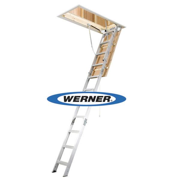美國Werner穩耐安全梯-AH2210折疊式閣樓梯   適用樓板高度範圍 2.34m~3.12m