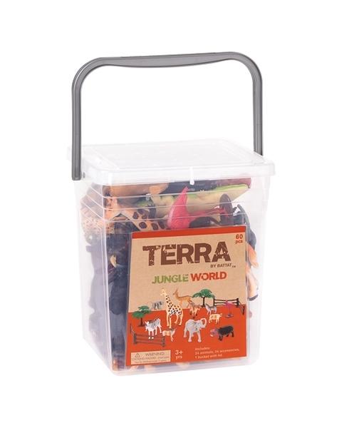 B.TOYS TERRA 感統玩具模型玩具 海洋世界/史前世界/叢林世界【情境桶】戲水玩沙.角色扮演