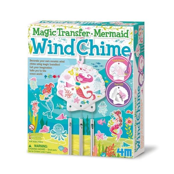《 4M美勞創作 》神奇轉印貼 - 人魚風鈴 Mermaid Wind Chime    ╭★ JOYBUS玩具百貨