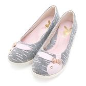 PLAYBOY 溫柔時光 GOPLAY線條厚底娃娃鞋-灰(YE3107)