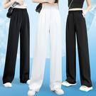 寬管褲 高腰直筒垂感西裝褲 休閒長褲 工作褲-媚儷香檳-【FD0127】