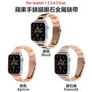 apple watch 1-6 適用apple watch SE錶帶 蘋果123456代貓眼石金屬錶帶 鑲鑽不銹鋼