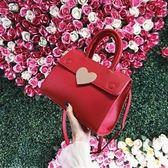 包包  結婚包紅色包包新娘包百搭韓版婚禮伴娘鉑金女包手提大氣  綠光森林