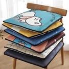 卡通冰絲夏天椅墊透氣電腦椅墊辦公室學生家用坐墊涼席汽車座墊子 創意空間