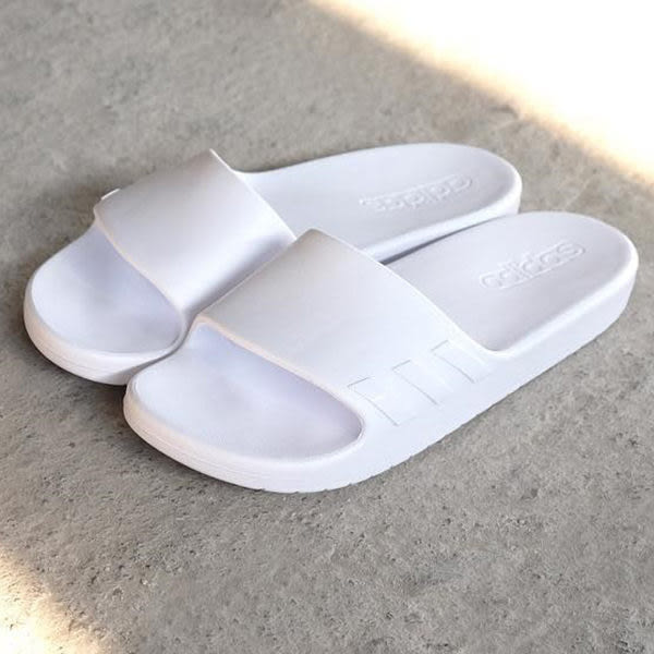 Adidas Aqualette Slides 女款 全白 運動 休閒防水拖鞋 Cloudfoam BA8764
