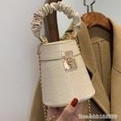 斜背包 洋氣高級感小包包女新款潮時尚手提小圓包百搭鏈條單肩斜背包 瑪麗蘇