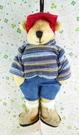 【震撼精品百貨】日本精品百貨~絨毛玩偶-人形熊-男生-條紋