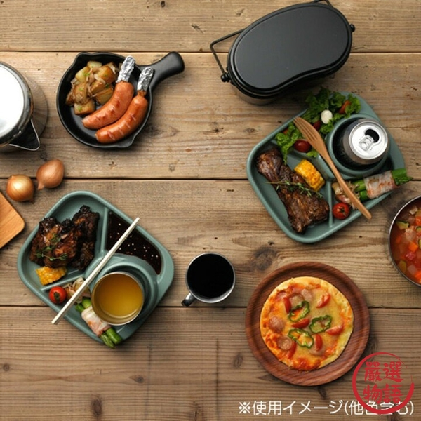 【現貨】日本製分隔餐盤 inomata BBQ 烤肉 戶外 露營 自助餐 餐盤 餐具 耐熱 可洗碗機 筷架