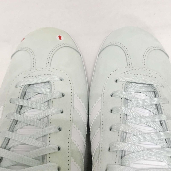 【US8.5-NG出清】adidas 休閒鞋 Gazelle W 粉綠 白 左鞋頭發黃 金標 麂皮 復古球鞋 女鞋【ACS】