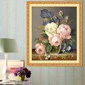 蒙娜麗莎十字繡線繡十字繡小幅臥室簡單花卉簡約現代客廳