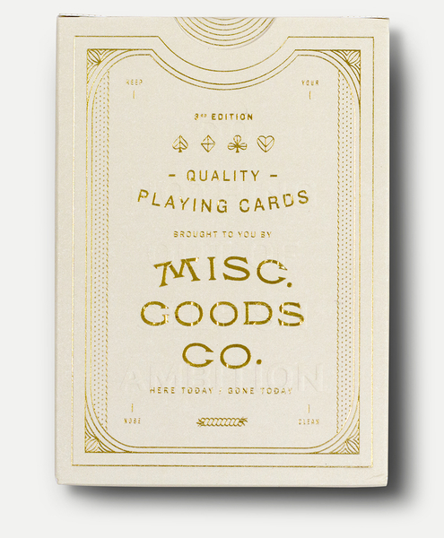 【USPCC 撲克】Pedale design MISC GOODS playing cards V3 象牙白