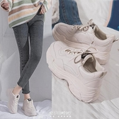 女鞋單鞋子女年新款老爹鞋女百搭休閑網紅學生春秋運動鞋 快速出貨