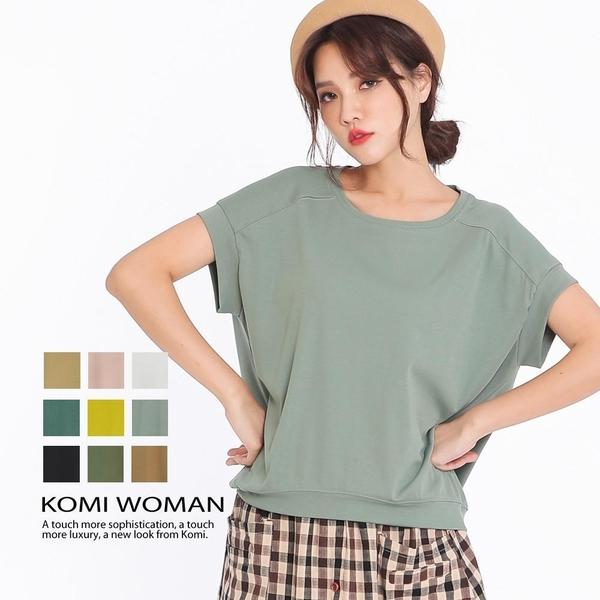 【南紡購物中心】KOMI-素面涼感小連袖棉上衣‧九色