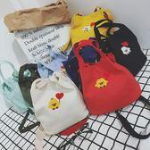 韓版新款馬卡龍色單肩手提斜跨帆布包便當包水桶包小清新包袋 桃園百貨