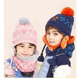 童帽 脖圍 動物針織帽子圍脖2件組 秋冬必備