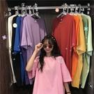 夏季新款閨蜜裝時尚韓版中長款寬鬆外穿短袖T恤洋裝女學生 錢夫人