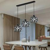 餐廳吊燈三頭現代簡約led美式