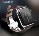 【愛瘋潮】QIALINO 洽利 Apple Watch 42mm 經典真皮錶帶