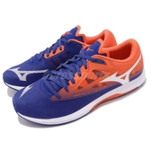 Mizuno 慢跑鞋 Wave Sonic 2 藍 橘 二代 輕量透氣 舒適緩震 美津濃 運動鞋 男鞋【PUMP306】 U1GD1934-01