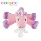 美國 nookums 寶寶可愛造型搖鈴安撫奶嘴/玩偶-夢幻獨角獸