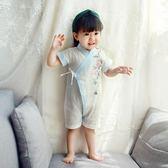 【好康618】嬰幼兒男女童寶寶山茶花紗布連身衣復古