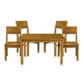 (組)Deep實木一桌四椅