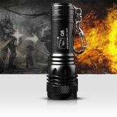 強光小手電筒可充電遠射LED迷你微型戶外家用防水 YY3684『樂愛居家館』TW