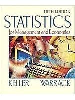 二手書博民逛書店《Statistics for Management and E