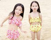 萬聖節大促銷 新款兒童比基尼女童寶寶可愛櫻桃裙式泡溫泉泳裝分體泳衣平角泳褲