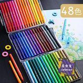 水彩筆 水彩筆36色雙頭軟頭毛筆勾線小學生用48色彩色手繪塗鴉畫畫顏色筆可水洗24色