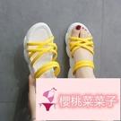 可愛少女心涼拖潮鞋拖鞋女鞋夏外穿厚底春季松糕鞋子【櫻桃菜菜子】