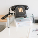 【H&R安室家】玻璃角落電話架/置物架-OA132