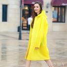 雨衣成人背包定制LOGO大碼長款戶外徒步旅游男女透明帽檐雨披外套 蘿莉小腳丫