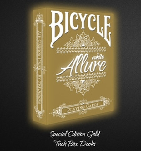 【USPCC 撲克】BICYCLE LE gold ALLURE white playing cards 白金版撲克牌