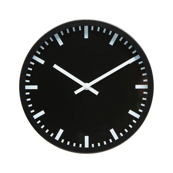 Lovel 25cm摩登膠框靜音時鐘-深黑里程(P2507W-LB)